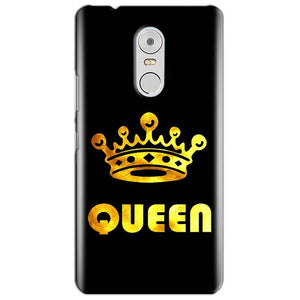Lenovo Vibe K6 Note Mobile Covers Cases Queen With Crown in gold - Lowest Price - Paybydaddy.com