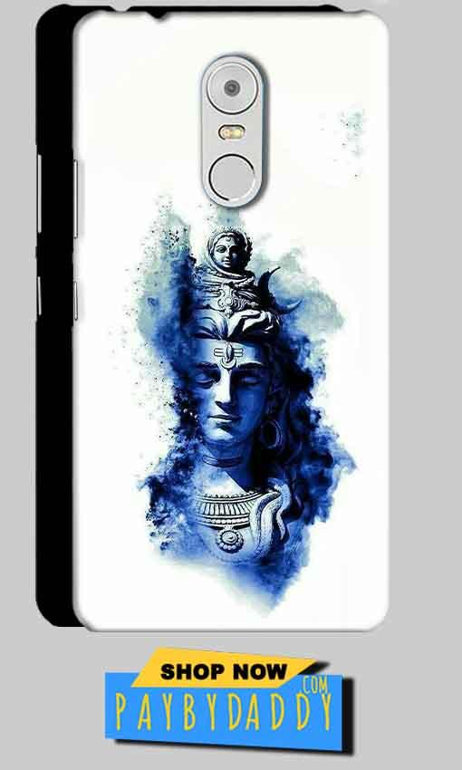 Lenovo Vibe K6 Note Mobile Covers Cases Shiva Blue White - Lowest Price - Paybydaddy.com