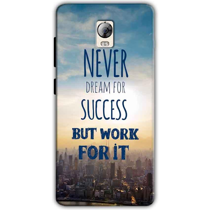 Lenovo Vibe P1 Mobile Covers Cases Never Dreams For Success But Work For It Quote - Lowest Price - Paybydaddy.com