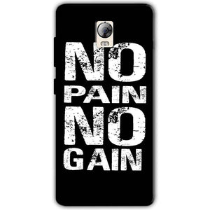 Lenovo Vibe P1 Mobile Covers Cases No Pain No Gain Black And White - Lowest Price - Paybydaddy.com