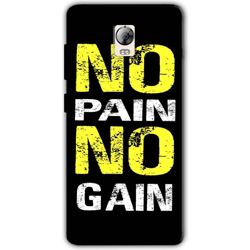 Lenovo Vibe P1 Mobile Covers Cases No Pain No Gain Yellow Black - Lowest Price - Paybydaddy.com