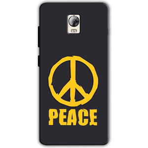 Lenovo Vibe P1 Mobile Covers Cases Peace Blue Yellow - Lowest Price - Paybydaddy.com