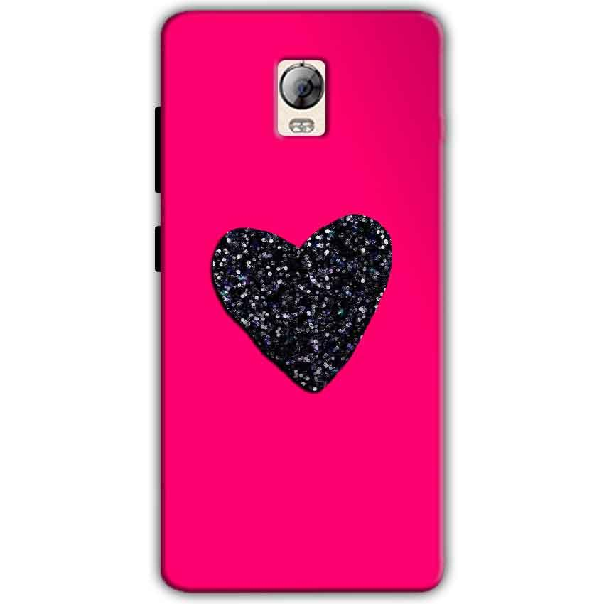 Lenovo Vibe P1 Mobile Covers Cases Pink Glitter Heart - Lowest Price - Paybydaddy.com