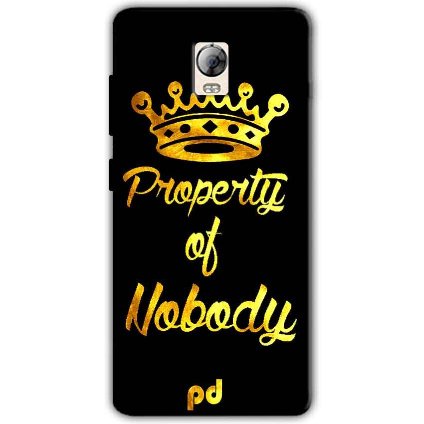 Lenovo Vibe P1 Mobile Covers Cases Property of nobody with Crown - Lowest Price - Paybydaddy.com