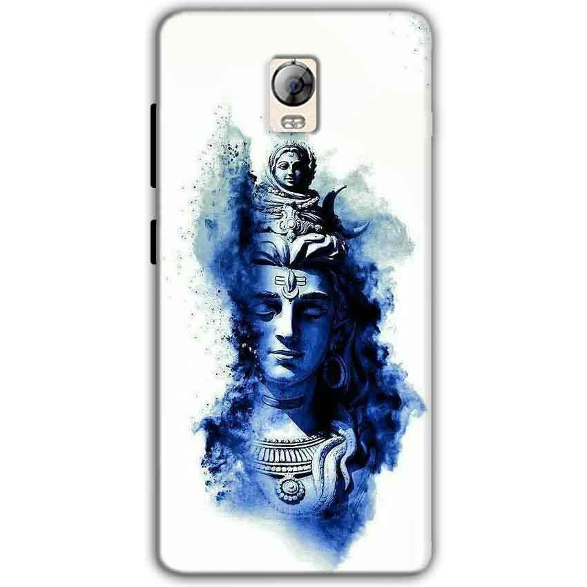 Lenovo Vibe P1 Mobile Covers Cases Shiva Blue White - Lowest Price - Paybydaddy.com