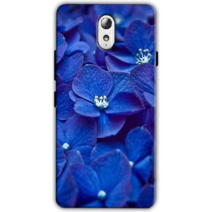 Lenovo Vibe P1m Mobile Covers Cases Blue flower - Lowest Price - Paybydaddy.com