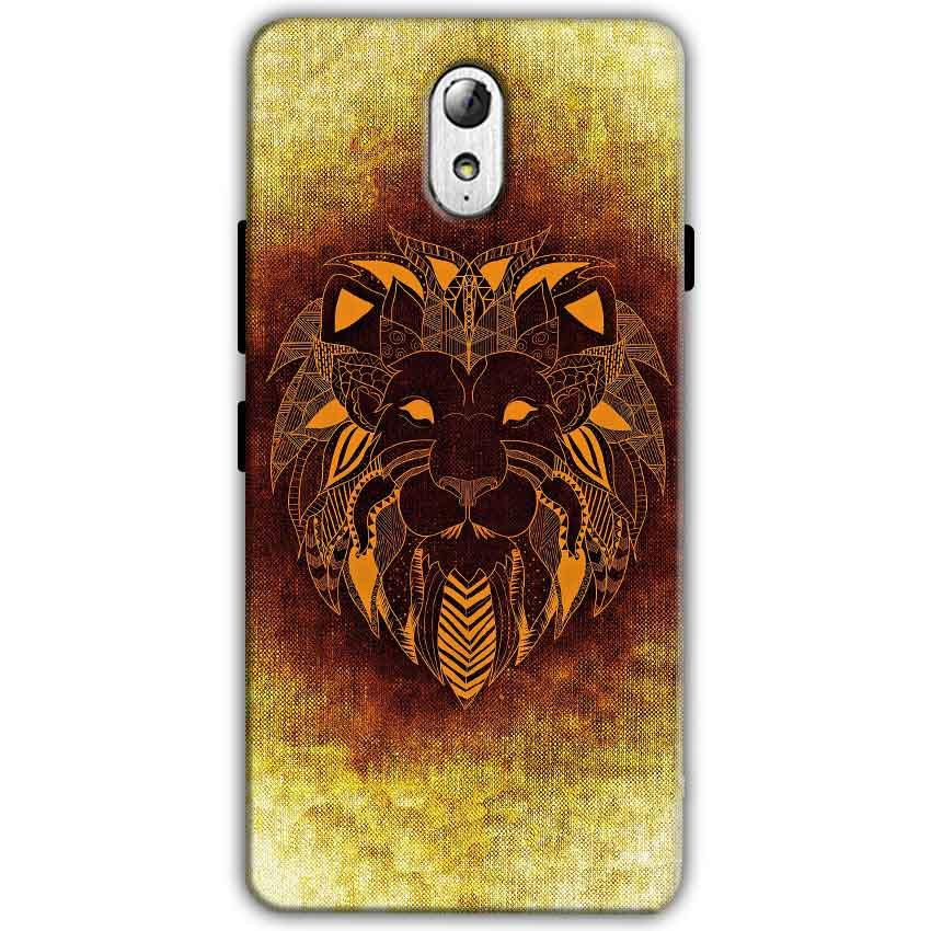 Lenovo Vibe P1m Mobile Covers Cases Lion face art - Lowest Price - Paybydaddy.com
