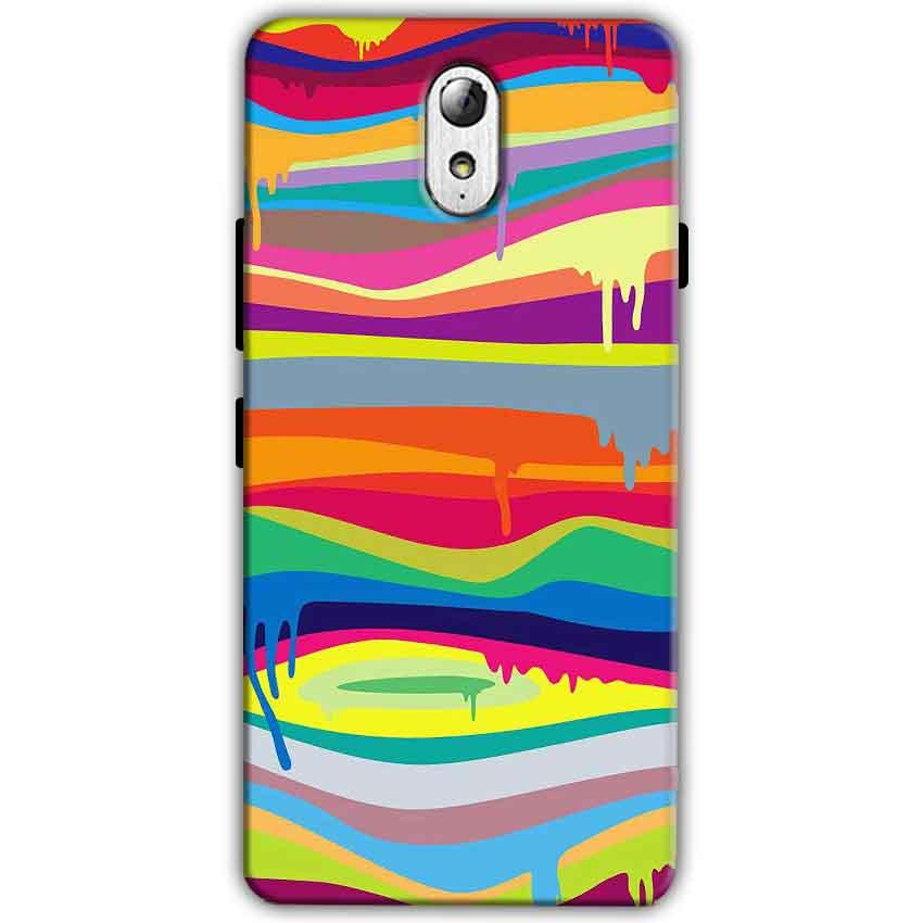 Lenovo Vibe P1m Mobile Covers Cases Melted colours - Lowest Price - Paybydaddy.com
