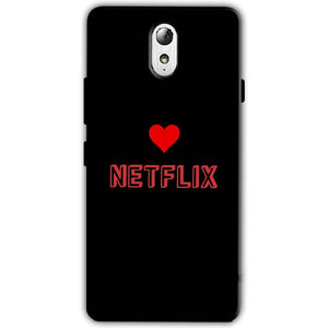 Lenovo Vibe P1m Mobile Covers Cases NETFLIX WITH HEART - Lowest Price - Paybydaddy.com