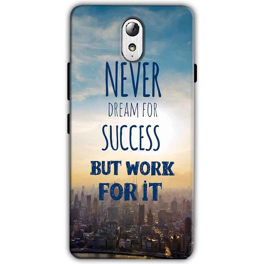 Lenovo Vibe P1m Mobile Covers Cases Never Dreams For Success But Work For It Quote - Lowest Price - Paybydaddy.com