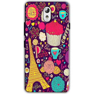 Lenovo Vibe P1m Mobile Covers Cases Paris Sweet love - Lowest Price - Paybydaddy.com