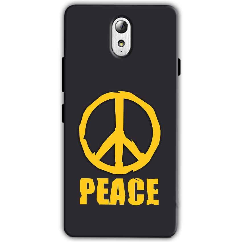 Lenovo Vibe P1m Mobile Covers Cases Peace Blue Yellow - Lowest Price - Paybydaddy.com