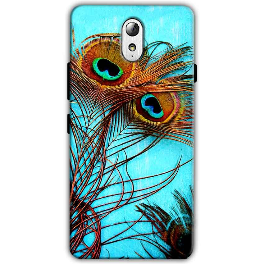 Lenovo Vibe P1m Mobile Covers Cases Peacock blue wings - Lowest Price - Paybydaddy.com