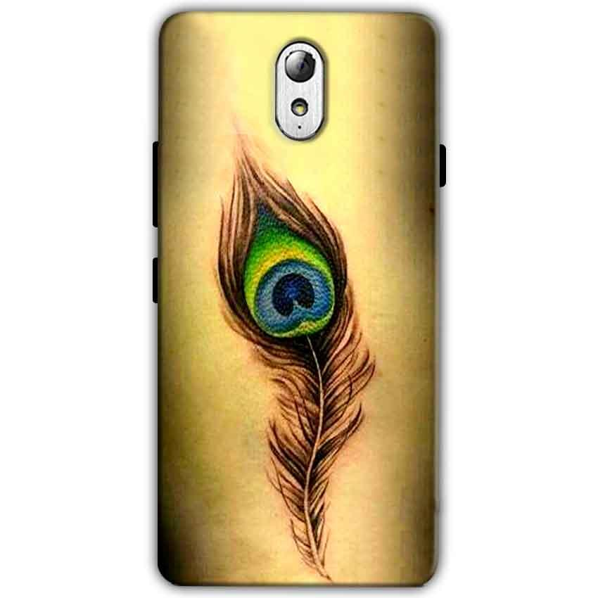 Lenovo Vibe P1m Mobile Covers Cases Peacock coloured art - Lowest Price - Paybydaddy.com