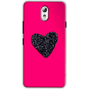 Lenovo Vibe P1m Mobile Covers Cases Pink Glitter Heart - Lowest Price - Paybydaddy.com
