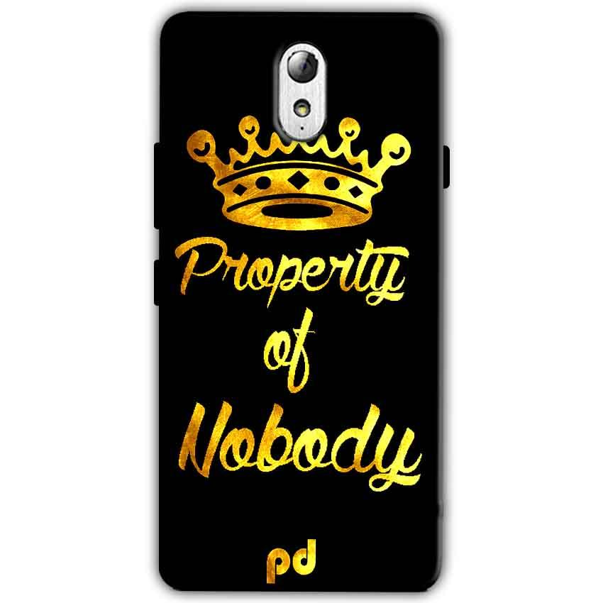 Lenovo Vibe P1m Mobile Covers Cases Property of nobody with Crown - Lowest Price - Paybydaddy.com