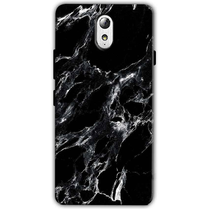 Lenovo Vibe P1m Mobile Covers Cases Pure Black Marble Texture - Lowest Price - Paybydaddy.com