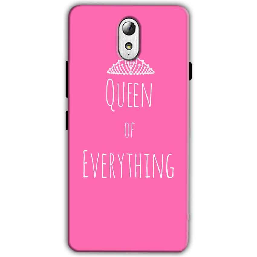 Lenovo Vibe P1m Mobile Covers Cases Queen Of Everything Pink White - Lowest Price - Paybydaddy.com