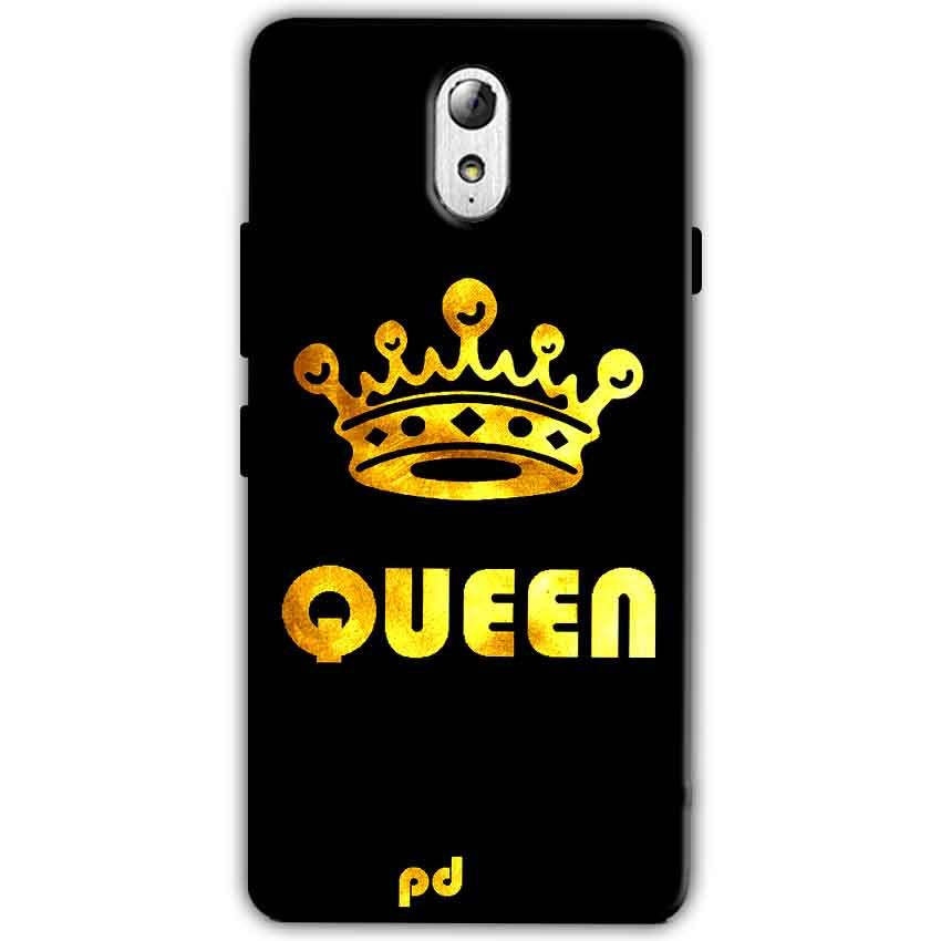 Lenovo Vibe P1m Mobile Covers Cases Queen With Crown in gold - Lowest Price - Paybydaddy.com