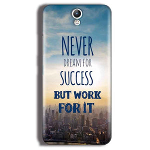 Lenovo Vibe S1 Mobile Covers Cases Never Dreams For Success But Work For It Quote - Lowest Price - Paybydaddy.com