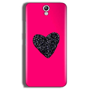 Lenovo Vibe S1 Mobile Covers Cases Pink Glitter Heart - Lowest Price - Paybydaddy.com