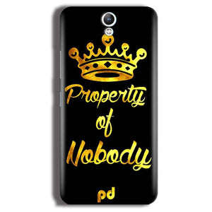 Lenovo Vibe S1 Mobile Covers Cases Property of nobody with Crown - Lowest Price - Paybydaddy.com