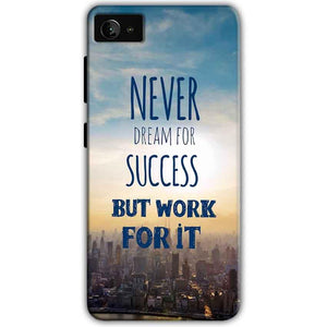 Lenovo Z2 Plus Mobile Covers Cases Never Dreams For Success But Work For It Quote - Lowest Price - Paybydaddy.com