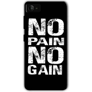 Lenovo Z2 Plus Mobile Covers Cases No Pain No Gain Black And White - Lowest Price - Paybydaddy.com