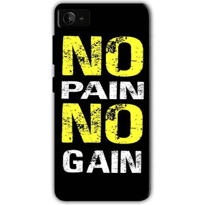 Lenovo Z2 Plus Mobile Covers Cases No Pain No Gain Yellow Black - Lowest Price - Paybydaddy.com