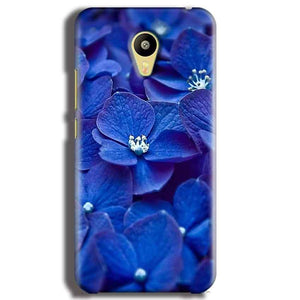 Meizu M3 Mobile Covers Cases Blue flower - Lowest Price - Paybydaddy.com