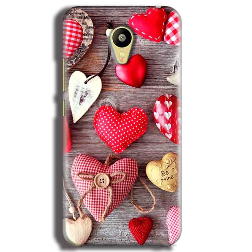 Meizu M3 Mobile Covers Cases Hearts- Lowest Price - Paybydaddy.com