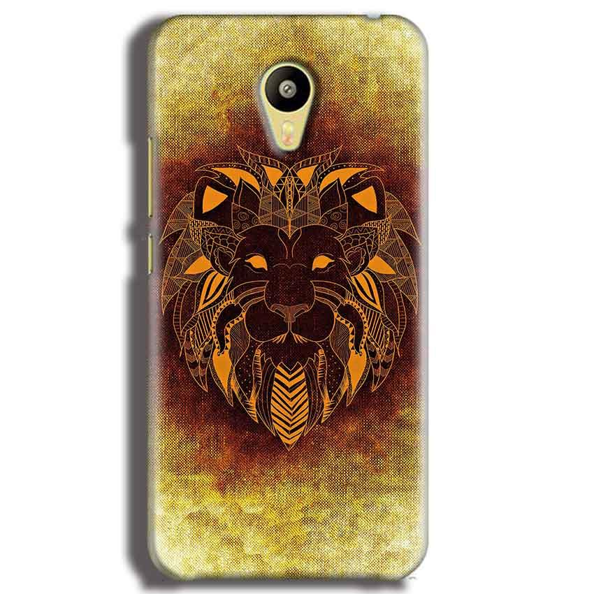 Meizu M3 Mobile Covers Cases Lion face art - Lowest Price - Paybydaddy.com