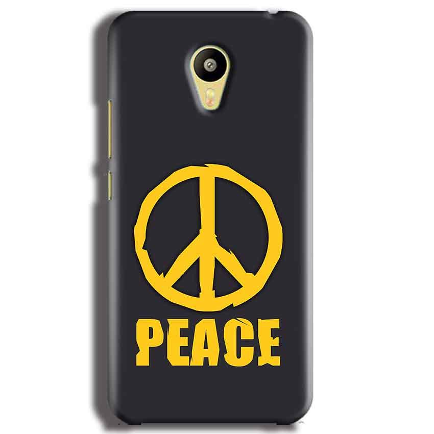Meizu M3 Mobile Covers Cases Peace Blue Yellow - Lowest Price - Paybydaddy.com