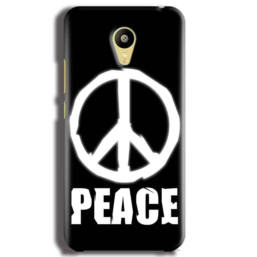 Meizu M3 Mobile Covers Cases Peace Sign In White - Lowest Price - Paybydaddy.com