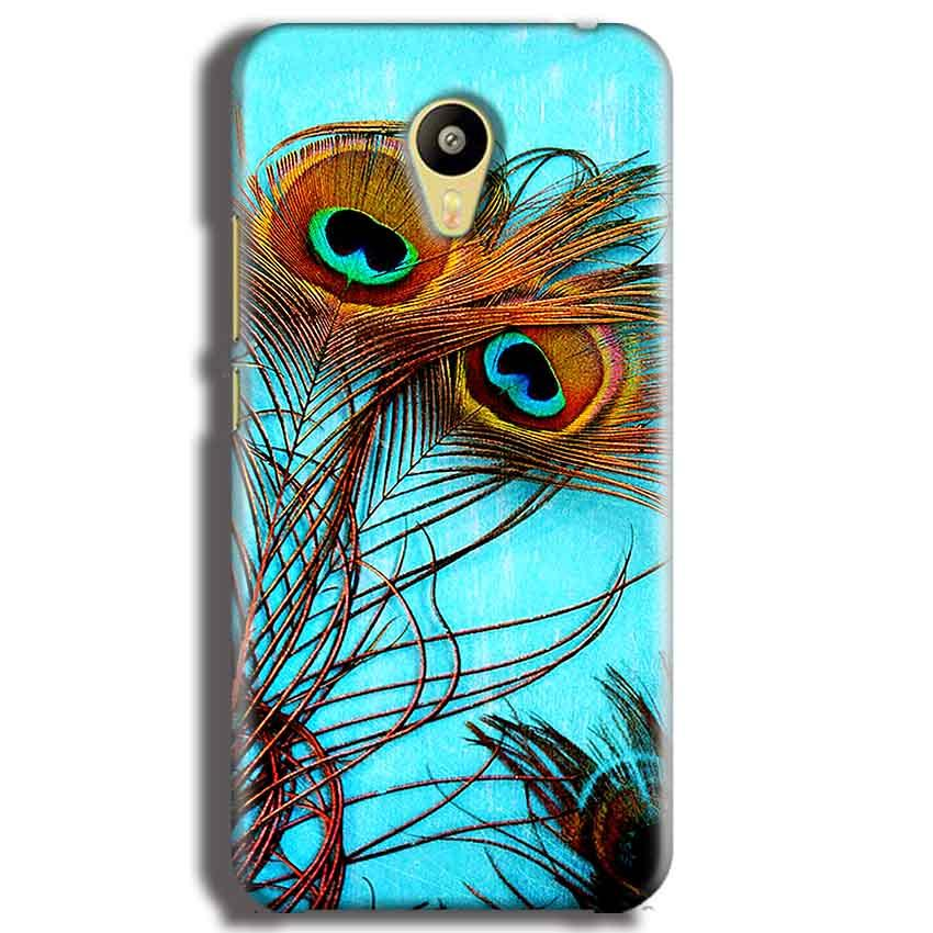 Meizu M3 Mobile Covers Cases Peacock blue wings - Lowest Price - Paybydaddy.com