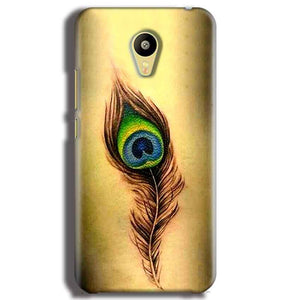 Meizu M3 Mobile Covers Cases Peacock coloured art - Lowest Price - Paybydaddy.com