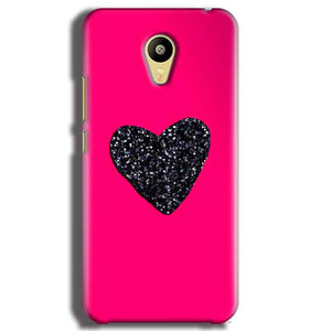 Meizu M3 Mobile Covers Cases Pink Glitter Heart - Lowest Price - Paybydaddy.com