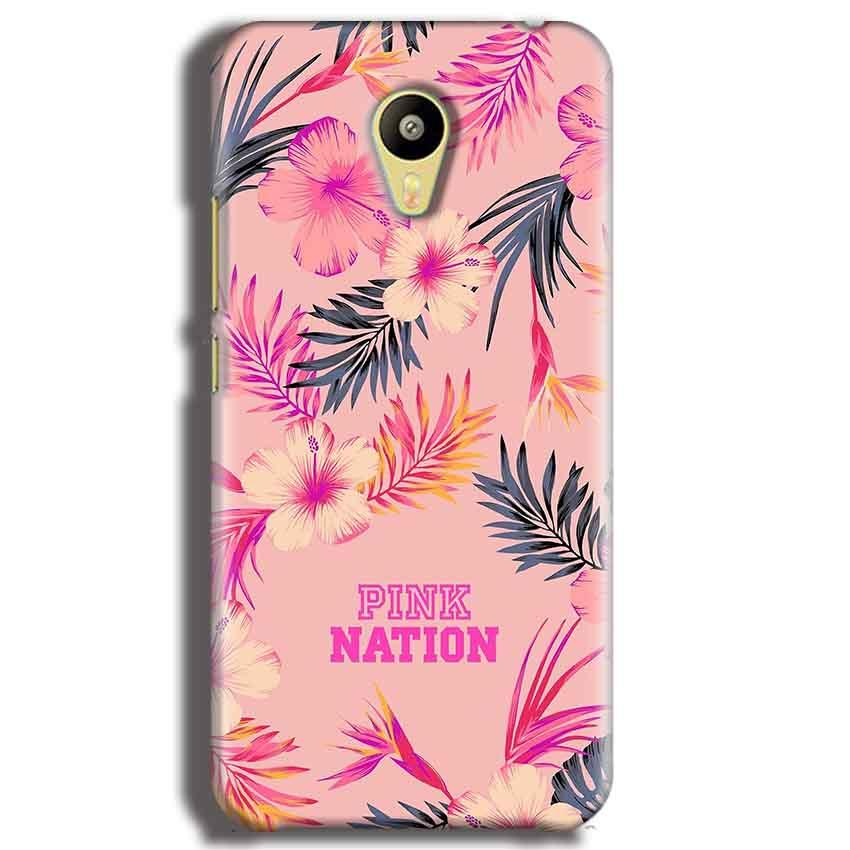 Meizu M3 Mobile Covers Cases Pink nation - Lowest Price - Paybydaddy.com