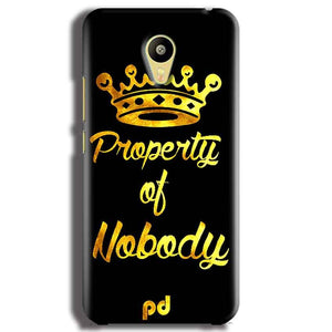 Meizu M3 Mobile Covers Cases Property of nobody with Crown - Lowest Price - Paybydaddy.com
