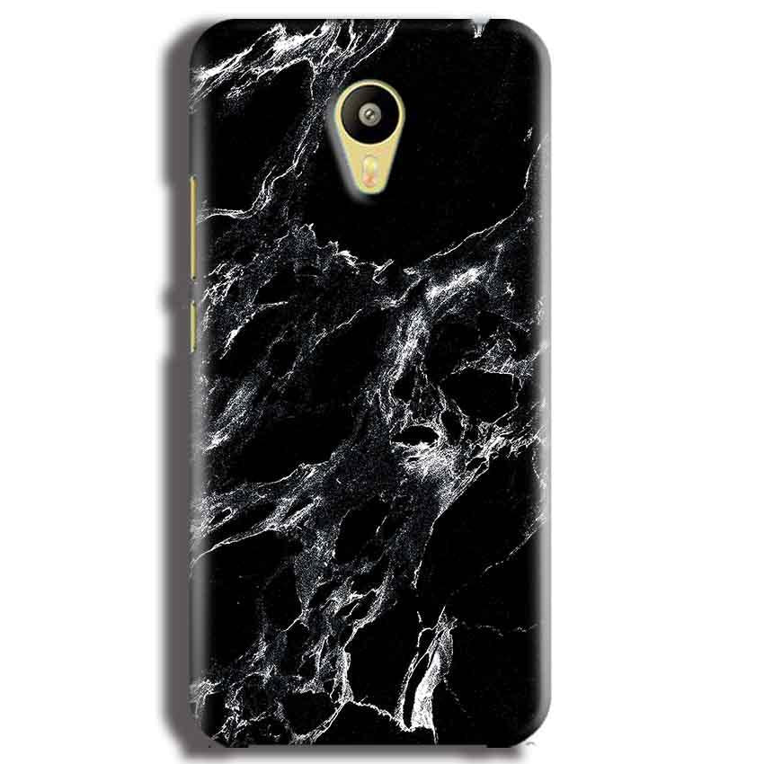 Meizu M3 Mobile Covers Cases Pure Black Marble Texture - Lowest Price - Paybydaddy.com