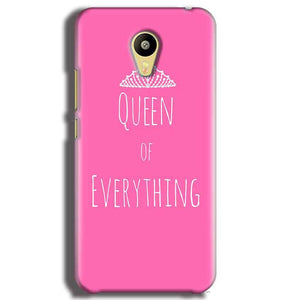 Meizu M3 Mobile Covers Cases Queen Of Everything Pink White - Lowest Price - Paybydaddy.com