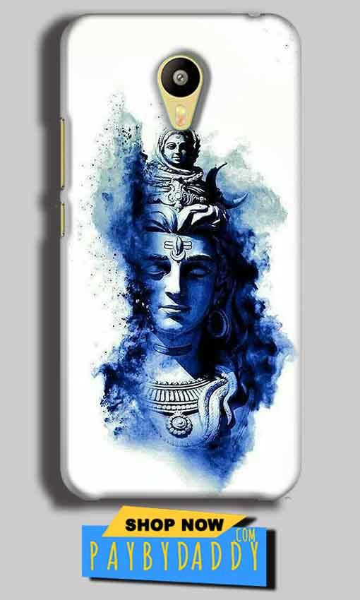 Meizu M3 Mobile Covers Cases Shiva Blue White - Lowest Price - Paybydaddy.com