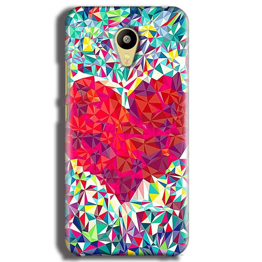 Meizu M3 Mobile Covers Cases heart Prisma design - Lowest Price - Paybydaddy.com