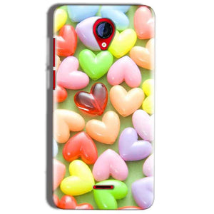 Micromax A106 Unite 2 Mobile Covers Cases Heart in Candy - Lowest Price - Paybydaddy.com