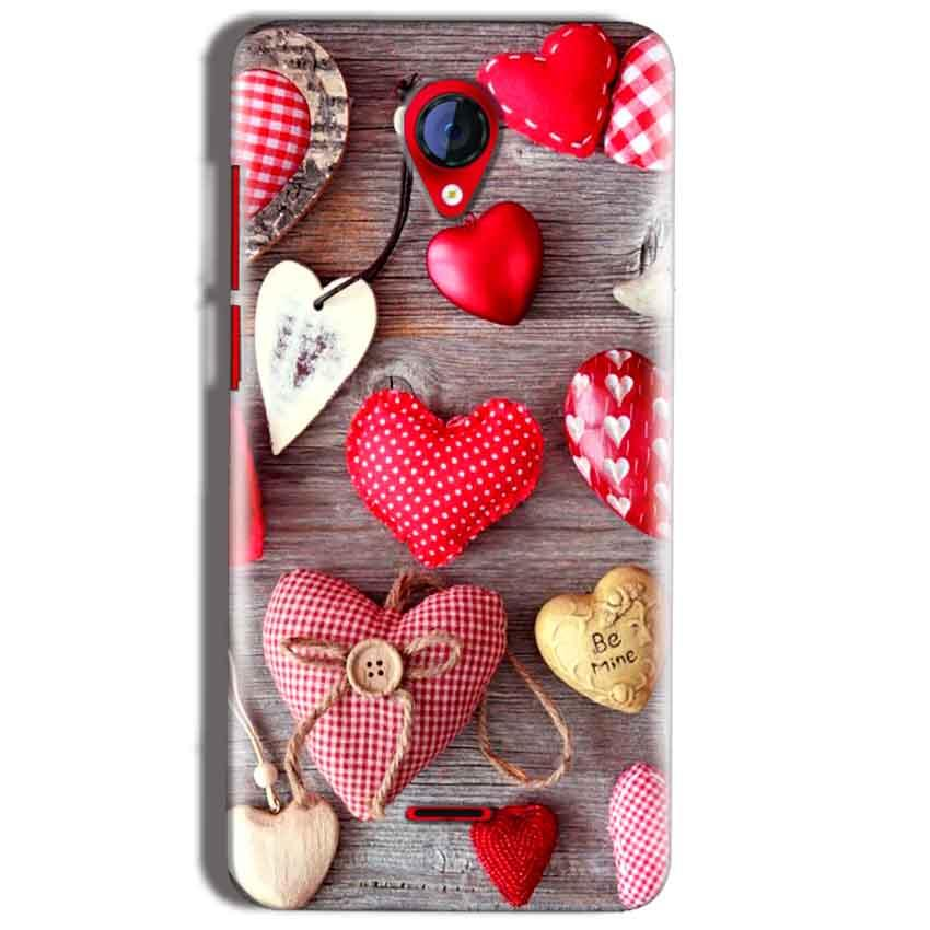 Micromax A106 Unite 2 Mobile Covers Cases Hearts- Lowest Price - Paybydaddy.com