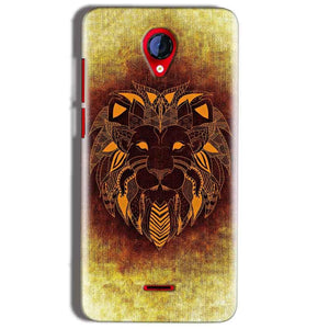 Micromax A106 Unite 2 Mobile Covers Cases Lion face art - Lowest Price - Paybydaddy.com