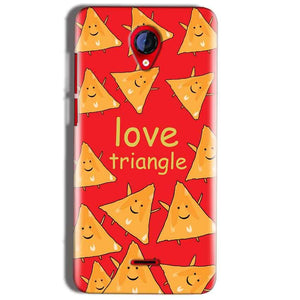 Micromax A106 Unite 2 Mobile Covers Cases Love Triangle - Lowest Price - Paybydaddy.com