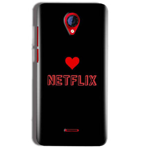 Micromax A106 Unite 2 Mobile Covers Cases NETFLIX WITH HEART - Lowest Price - Paybydaddy.com