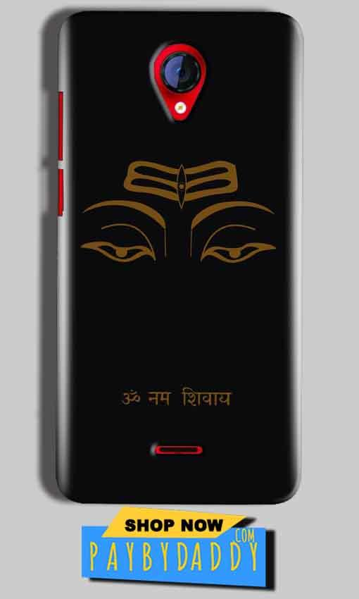Micromax A106 Unite 2 Mobile Covers Cases Om Namaha Gold Black - Lowest Price - Paybydaddy.com