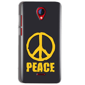 Micromax A106 Unite 2 Mobile Covers Cases Peace Blue Yellow - Lowest Price - Paybydaddy.com